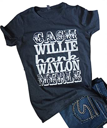 concert and country music tops and tees cash willie hank waylon and merle old country music