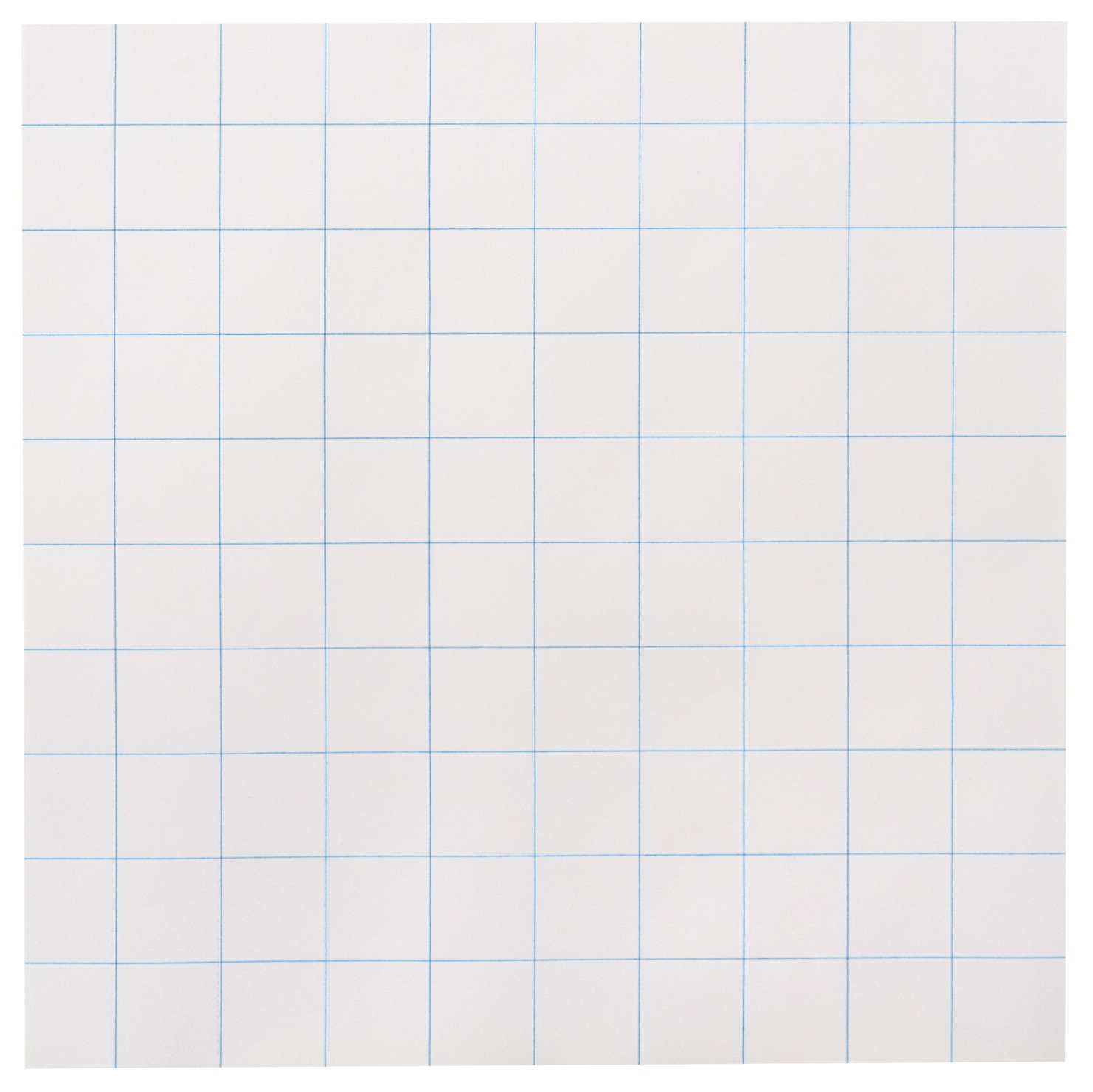 School Smart Three Hole Punched Graph Paper with 1 inch Rule - 10 x 10 inches - Ream of 500 - White
