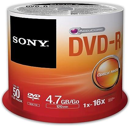 Sony 50DMR47SP - Pack de 50 Unidades de DVD-R: Sony: Amazon.es: Electrónica