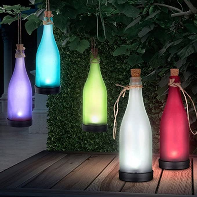 Amazon.com: Botellas de vino luces de cadena, asdomo botella ...
