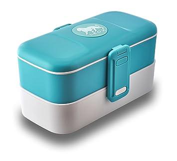 Leox de – Tartera con dos compartimentos Bento Box – Fiambrera Tartera con subdivisión comer to go Food Container Lunch Box Dos Compartimentos con ...