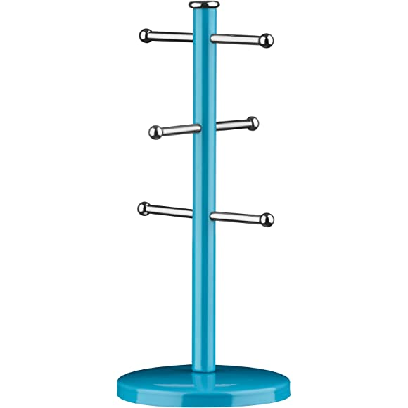 Premier Housewares 6 Cup Blue Mug Tree