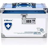 Remylady Medicine Safe Lock Boxes Container Health Care Medicine Jewelry Prescription Cabinet Organizer with Combination