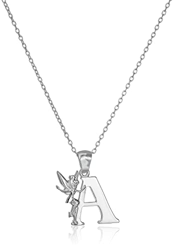 Amazon disney tinkerbell a initial silver pendant necklace amazon disney tinkerbell a initial silver pendant necklace jewelry aloadofball Images
