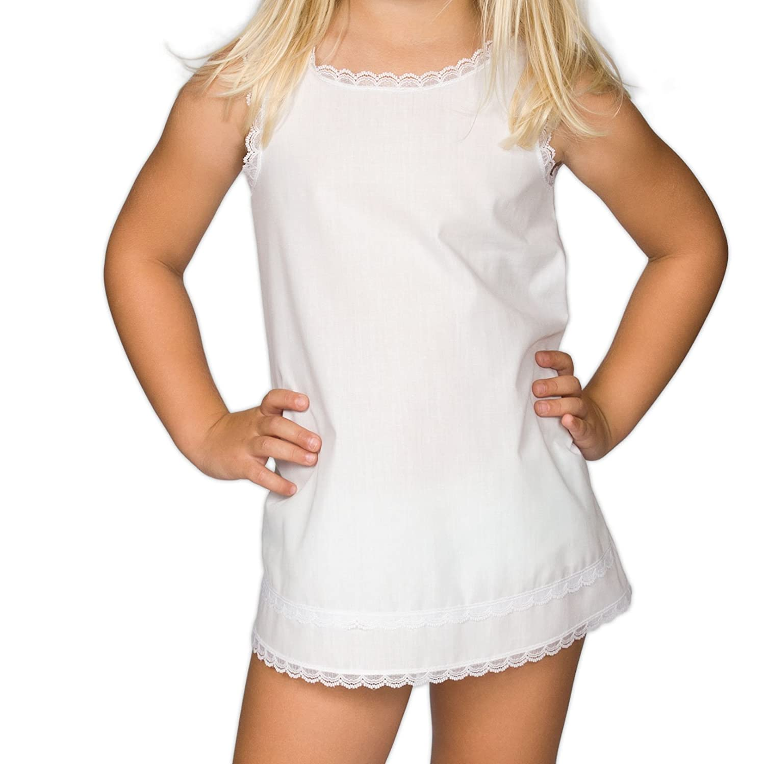 I.C. Collections Little Girls White Simple A-Line Slip, 3T New ICM 000310-WHB