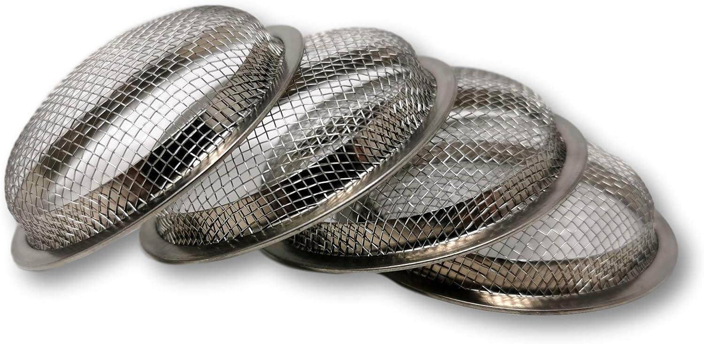 Ekna Juego de 4 coladores para cachimba de acero inoxidable V2A, para cabeza de shisha, colador de tabaco, accesorio prémium