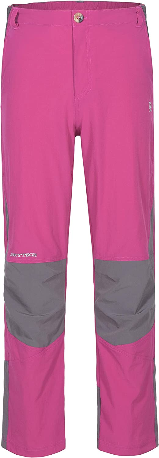 Little Donkey Andy Youth Girls' Lightweight Quick-Dry Pants for Hiking Camping Travel