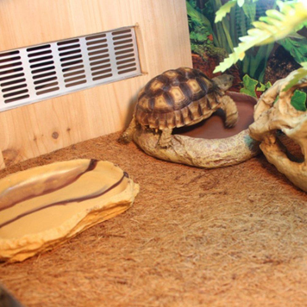 Ocamo 60x40CM Pet Natural Coconut Mat Reptile Box Breathable Bedding Line for Turtles, Reptilia and Small Animals
