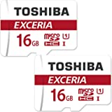 2個セット TOSHIBA 東芝 microSDHC 16GB Class10 UHS-I 防水 耐X線 超高速 [並行輸入品]