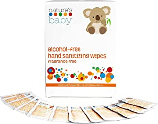 product image for Nature's Baby Hand Sanitizing Wipes, Individually-Wrapped, Eco-Friendly Alcohol Free Baby Hand Sanitizing Wipes, Biodegradable Moisturizing Baby Antibacterial Wipes 60-Count