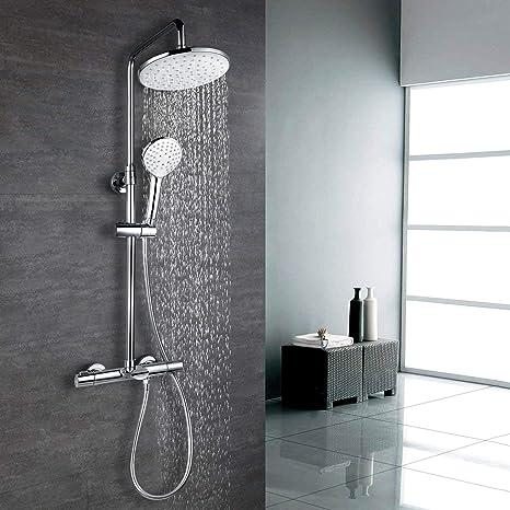 Bevorzugt Amzdeal Duschsystem Regendusche Set mit Thermostatic Duschset EI37