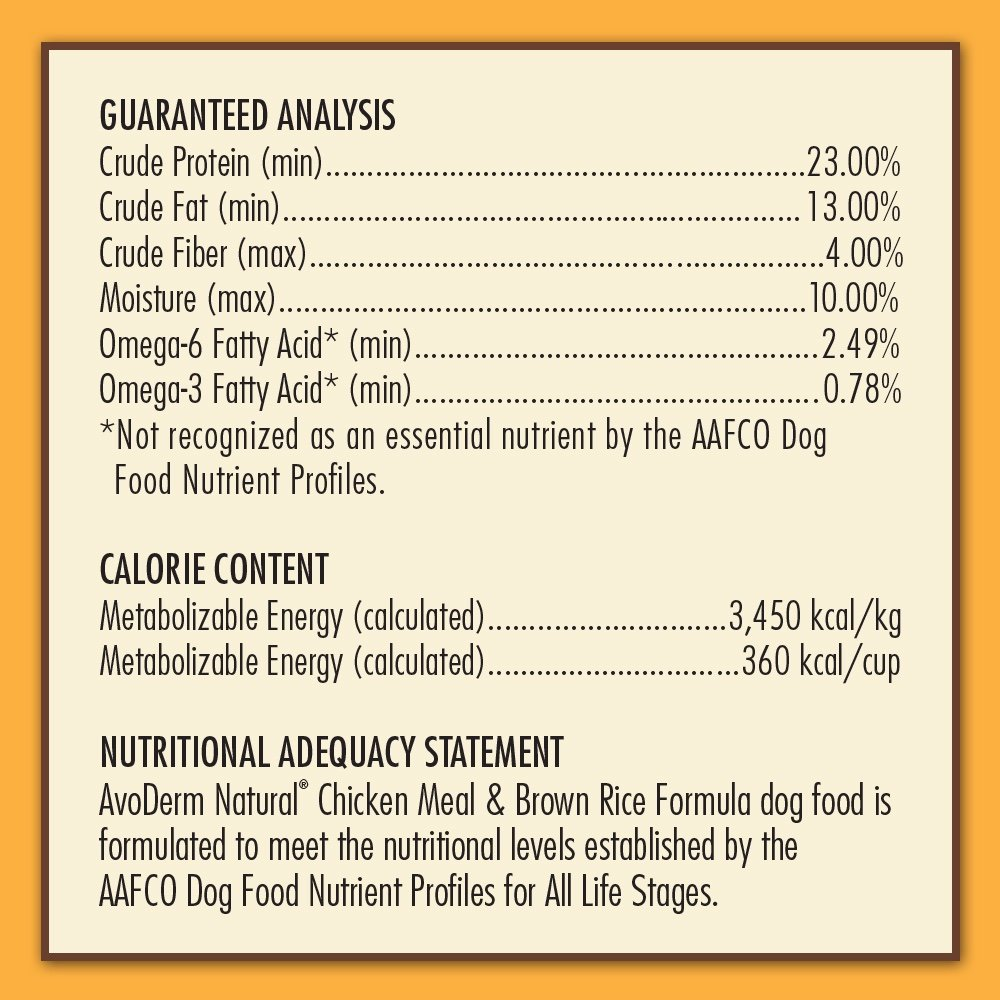 AvoDerm Natural Dry & Wet Dog Food, For Skin & Coat, Chicken & Rice Formula by AvoDerm (Image #8)