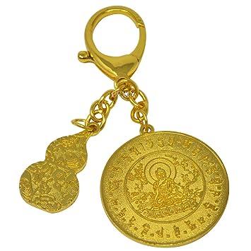 W1004 - Llavero con amuleto feng shui, con pulsera de hilos ...