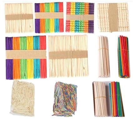 Amazon com: WellieSTR 1700pcs mixed stlye Wooden Craft