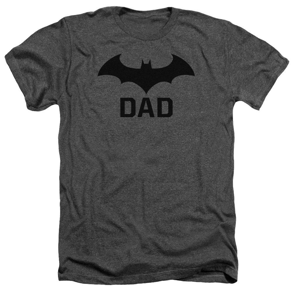 Batman DC Comics Bat Dad Logo Adult Heather T-Shirt Tee