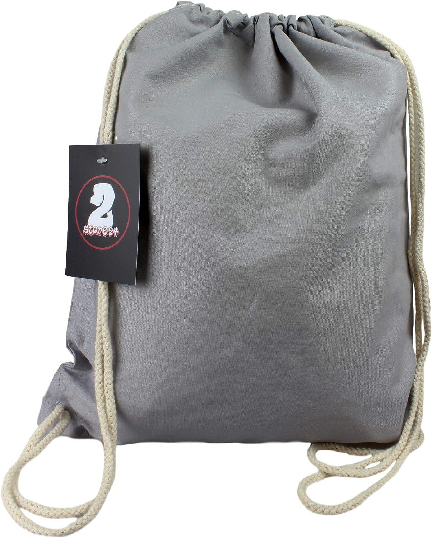 2Store24 Sacs de Sport Gymnastique Sac de Coton dans de Nombreuses Couleurs Gym Bag
