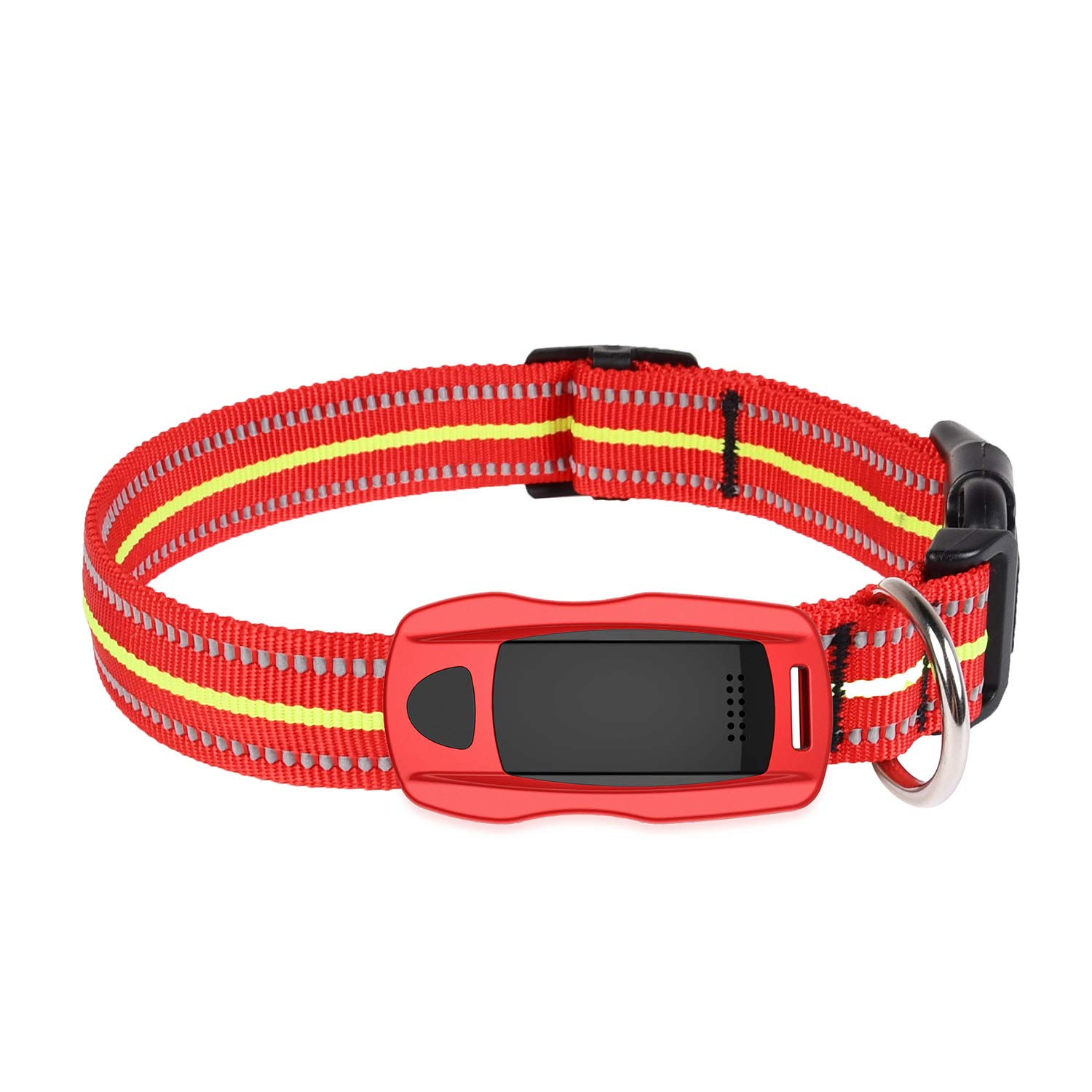 Dog Cat Pet Smart Tag Activity Tracker - Lightweight Lightweight, Waterproof, Activity Monitor Pet Health Monitor, Suitable for Dogs and Cats,Red