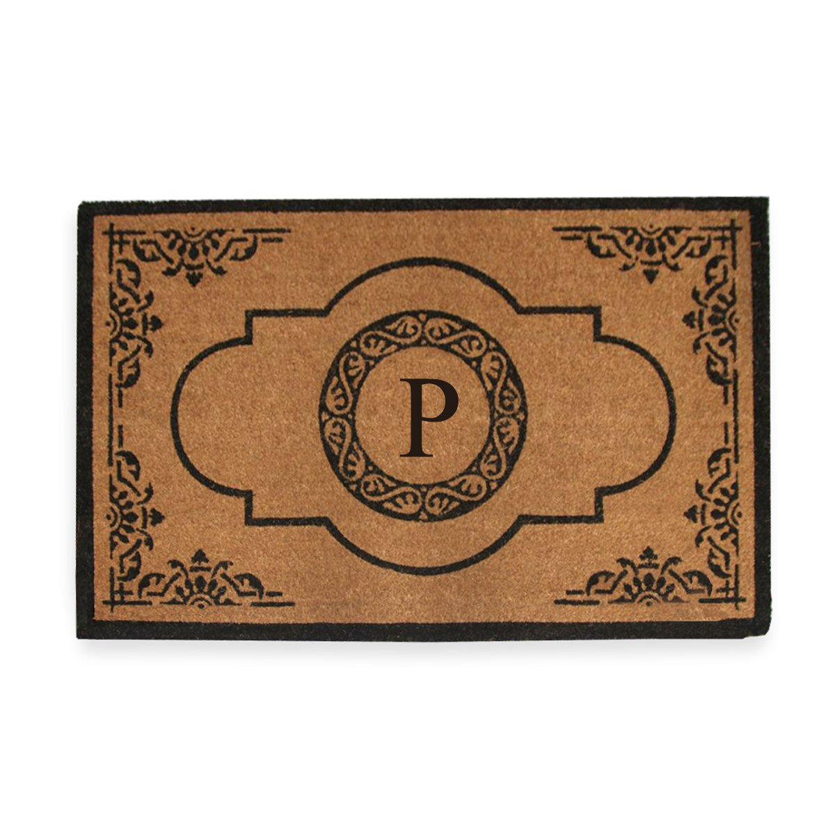 A1 Home Collections First Impression Hand Crafted Abrilina Entry Coir Monogrammed Double Doormat, 72'' L x 36'' W, X-Large by A1 Home Collections