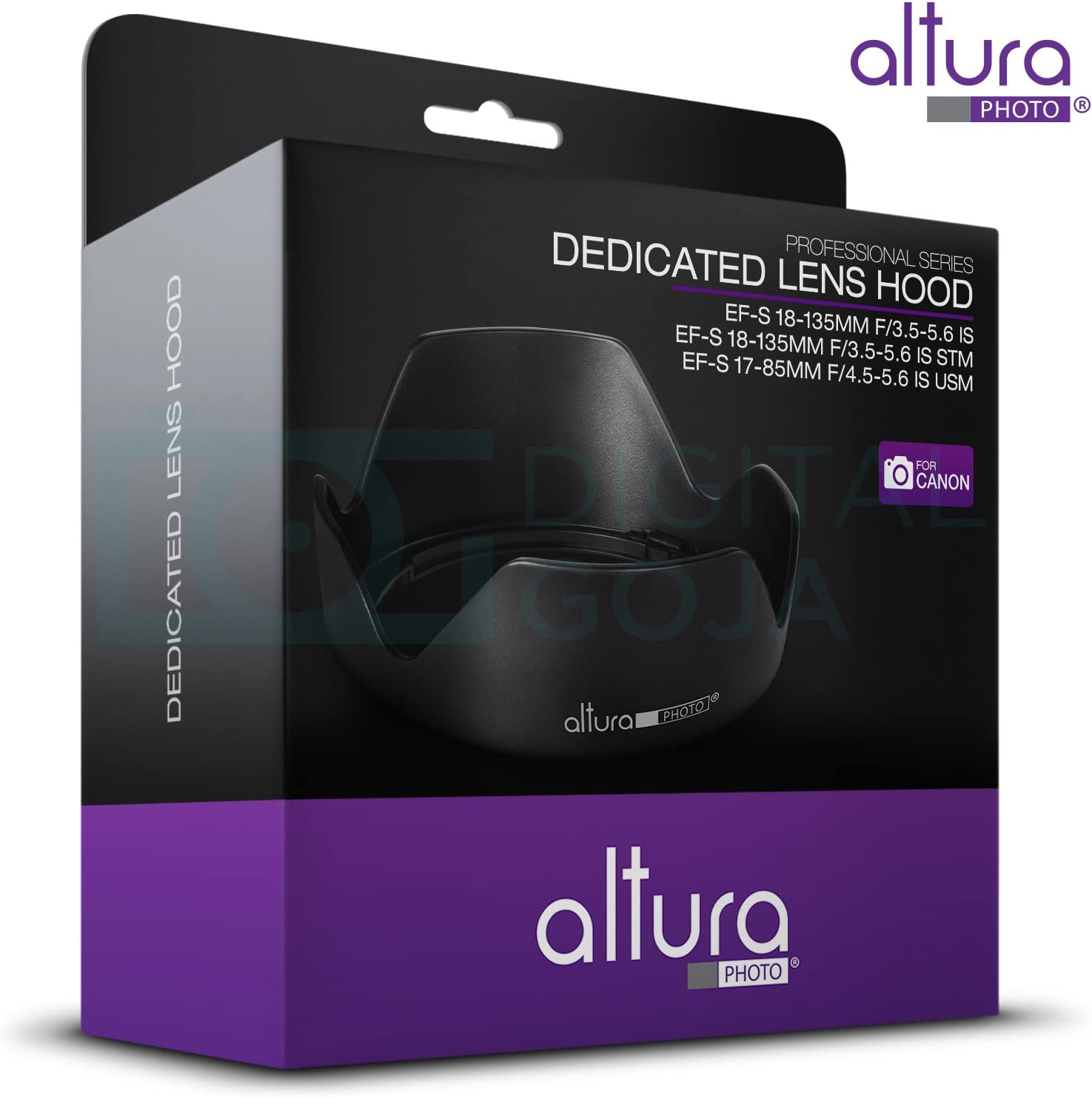 Altura Photo Lens Hood for Canon EF-S 18-55mm f//3.5-5.6 is STM Lens Canon EW-63C Replacement