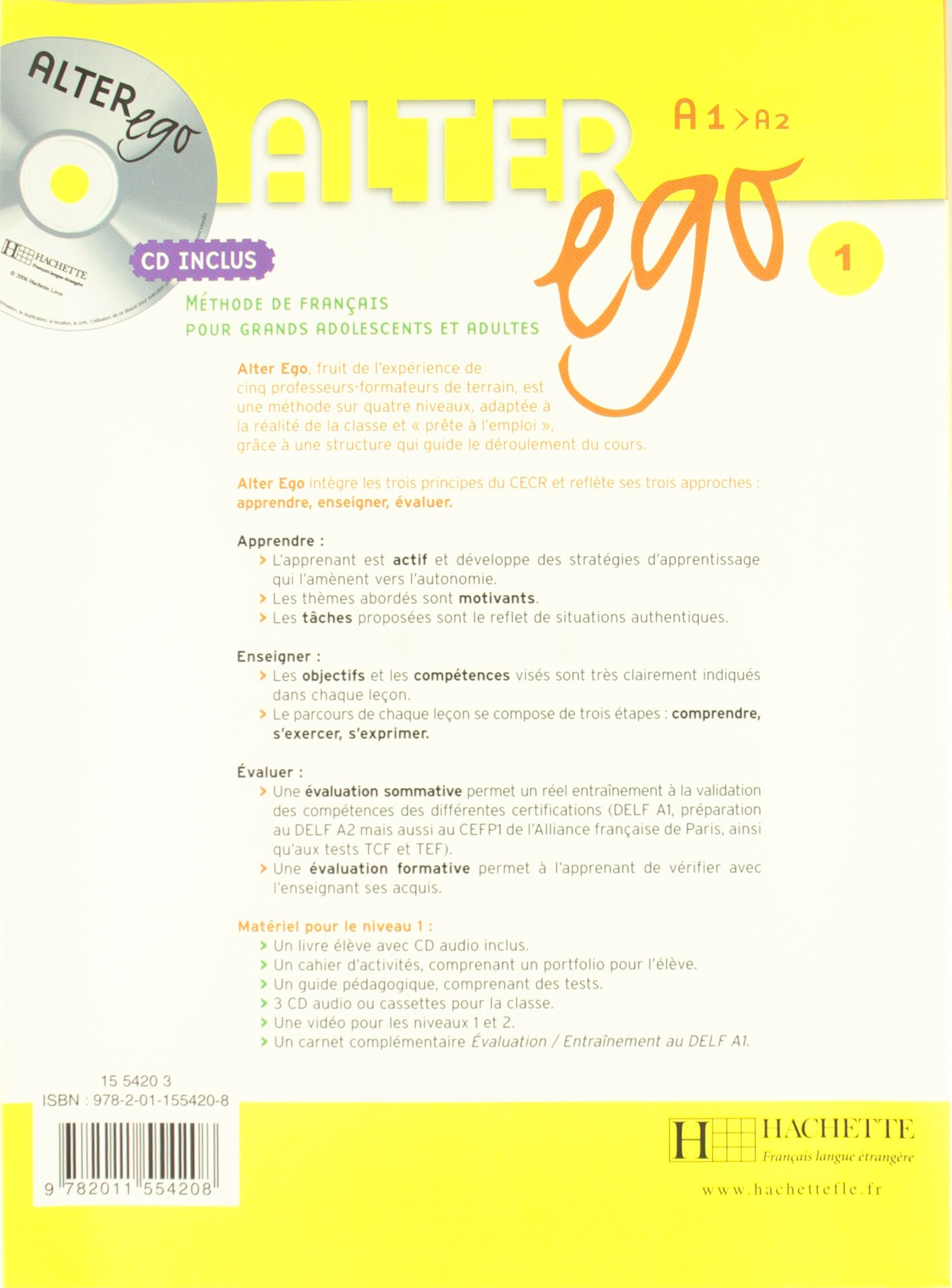 ALTER EGO 1 ALUM+500 EJER GRAMMAIRE PACK SGEFR1ESO: AA.VV: 9788497785167:  Amazon.com: Books