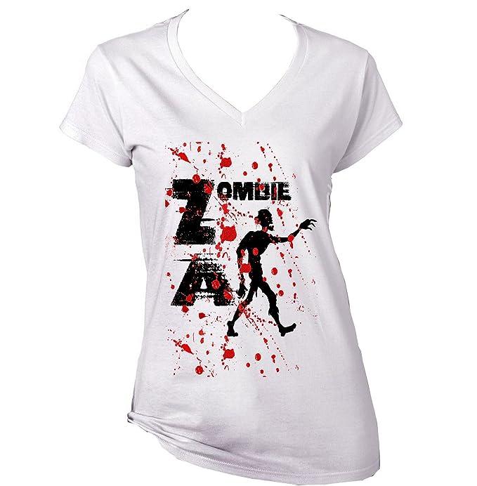 Teesquare1st ZOMBIE APOCALYPSE Camiseta para mujer de algodon: Amazon.es: Ropa y accesorios