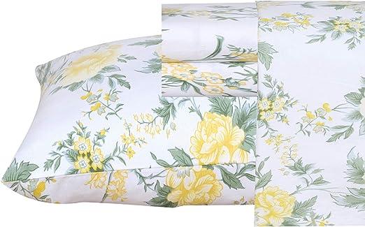 Amazon.com: Ruvanti 100% Cotton 4 Pcs Flannel Sheets California
