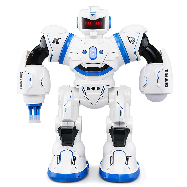 JJRC R3 Smart Combat Robot Toy RC Control Gesture Sensor Action Display Singing Dancing USB Charging Kids Christmas Birthday Gift Blue