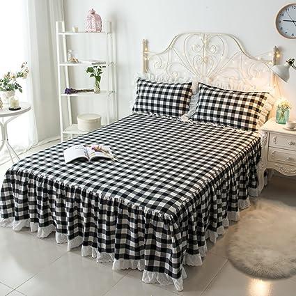 Intero cotone semplice letto pelle abito singolo pezzo/copertura del ...