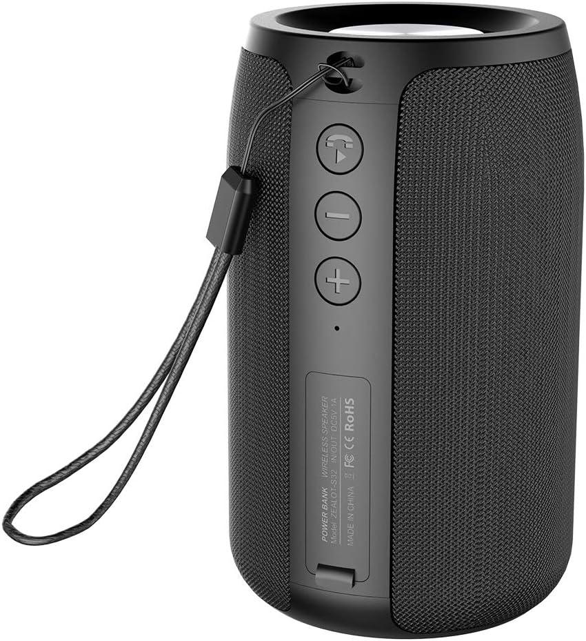 Mini Portable Bluetooth Speakers Zealot S32 TWS Wireless Speaker IPX5 Waterproof Upto 12H Playtime MIC HD Calls