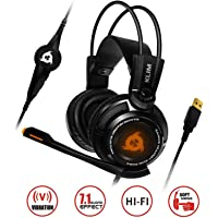 ⭐️KLIM™ Puma - Micro Casque Gamer - Son 7.1 - Audio Très Haute Qualité - Vibrations Intégrées - Confortable - Parfait pour Gaming PC et PS4 - Noir - Nouvelle Version 2019