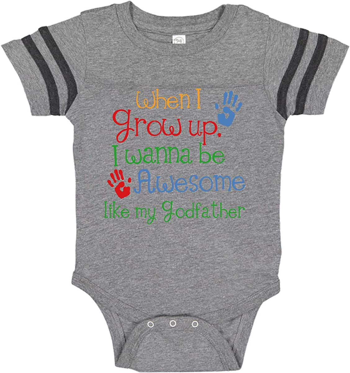 Onlybabycare My Awesome Godfather 100/% Cotton Toddler Baby Boys Girls Kids Short Sleeve T Shirt Top Tee Clothes 2-6 T