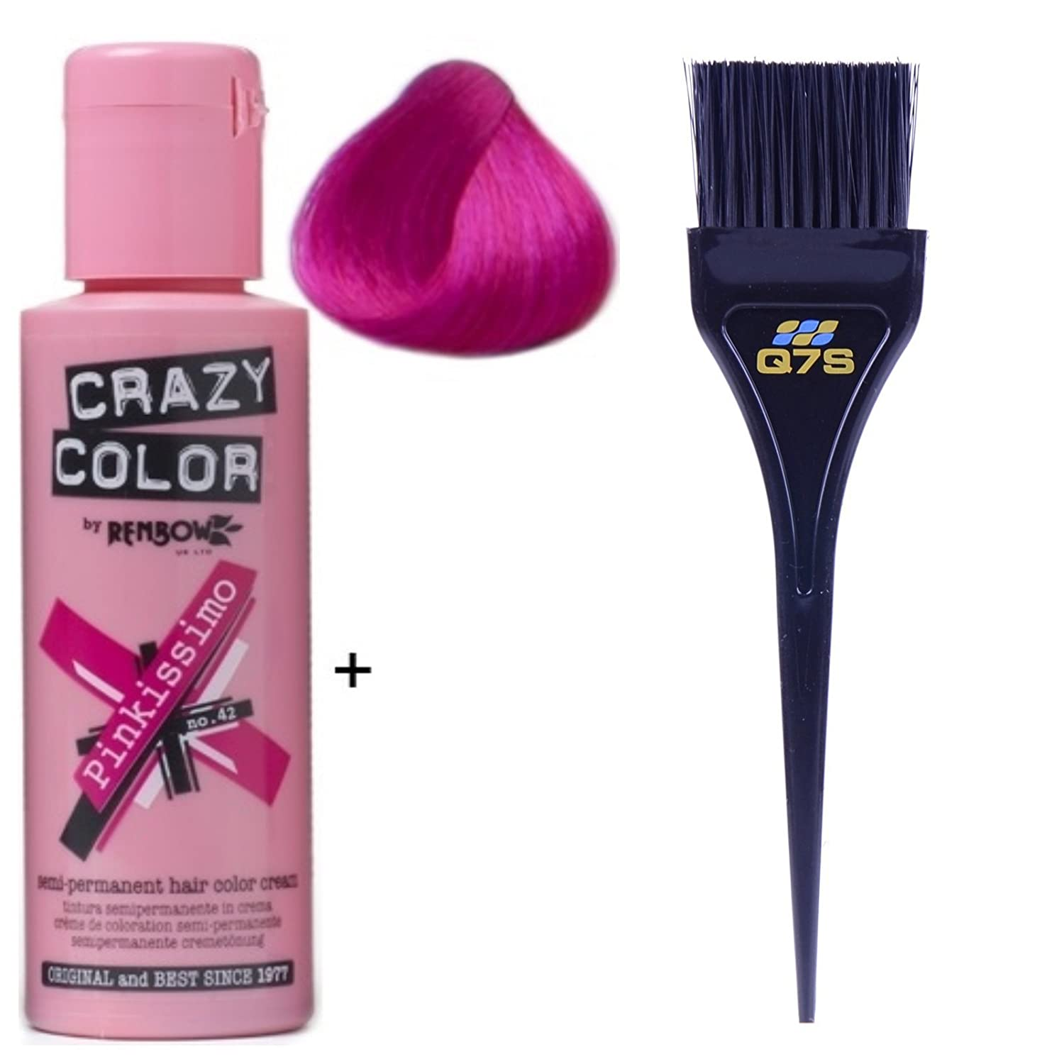 Crazy Color Semi-permanent Hair Colours with ® Q7S ™ Tint Brush (Lilac) Renbow