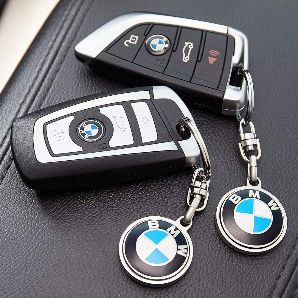 2 Pack YANGYI Compatible for BMW Keychains 3D Car Logo Key Chain Key Ring Accessories , Suit for BMW 1 3 5 6 Series X5 X6 Z4 X1 X3 X7 7Series Business Gift Birthday Present for Men and Woman