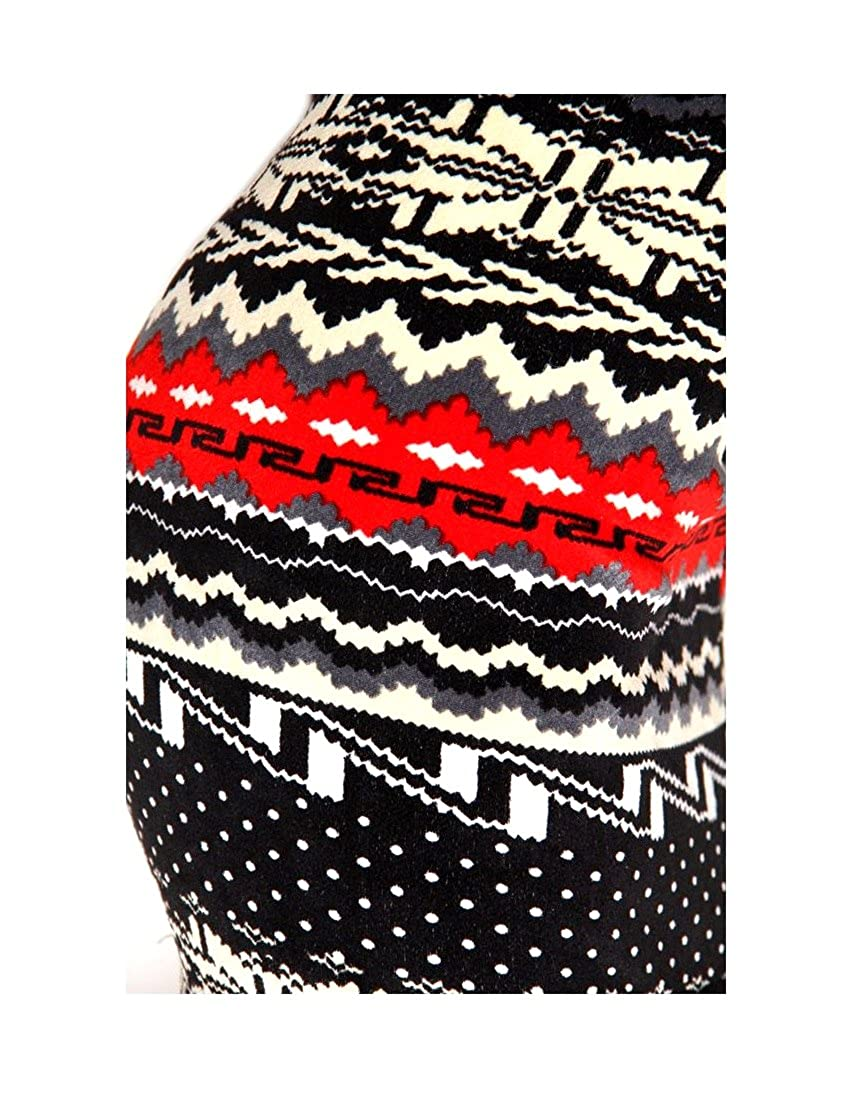 fcb184b15a0bdd Women Elastic Fair Isle Velour Print Thick Fur lined Legging (S to M) at  Amazon Women's Clothing store: