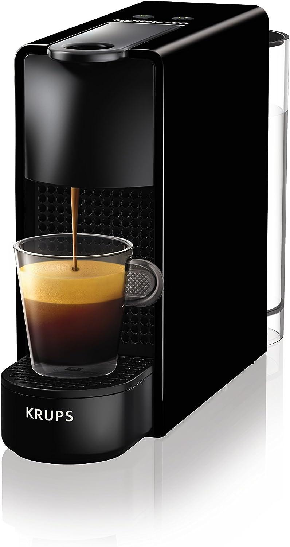 Nespresso Essenza Mini Coffee Machine with Aeroccino, Black by Krups