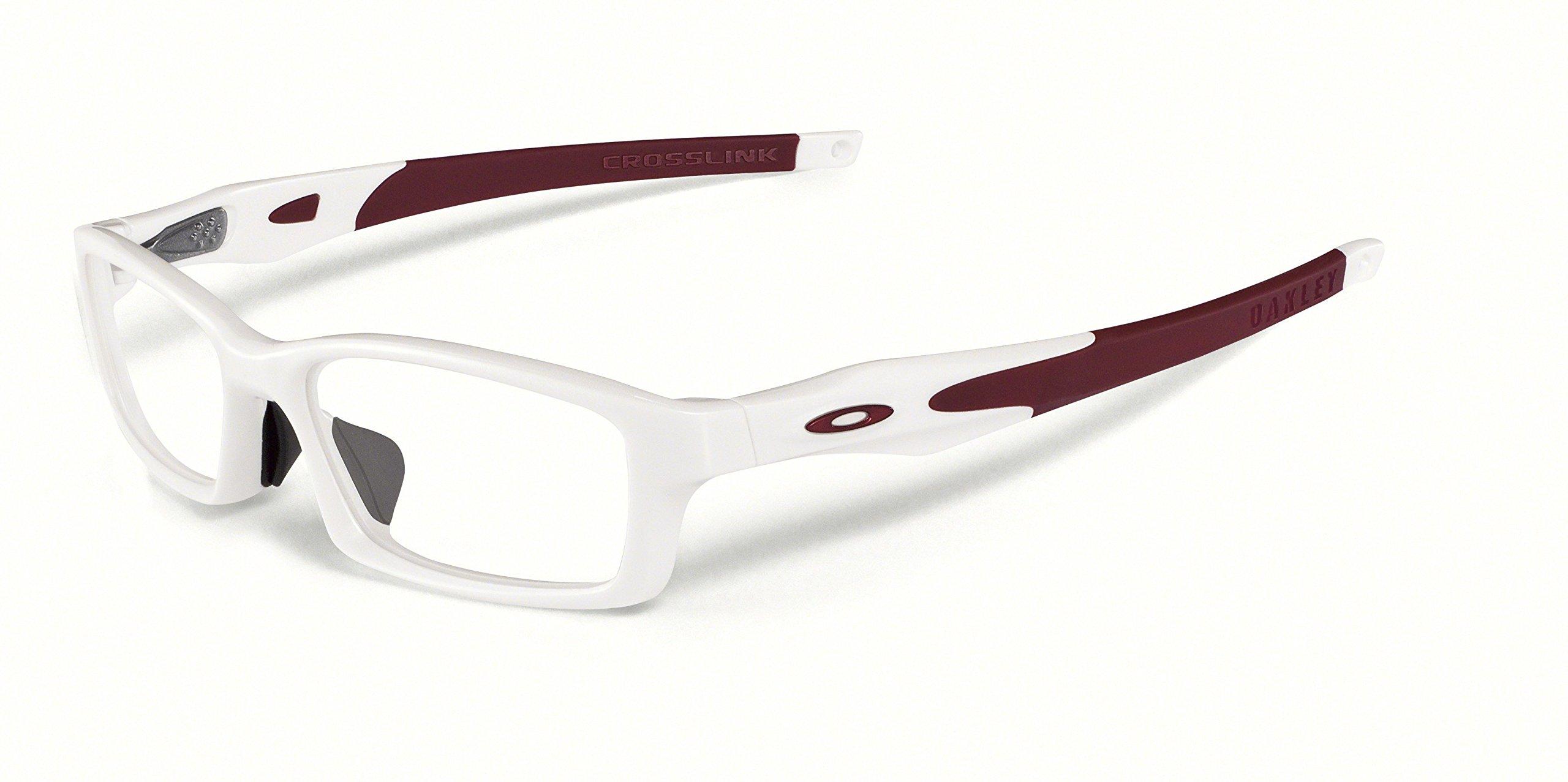 New Oakley Prescription Eyeglasses - Crosslink A OX8029 04 - Pearl/Tim Cardinal (56-17-140)