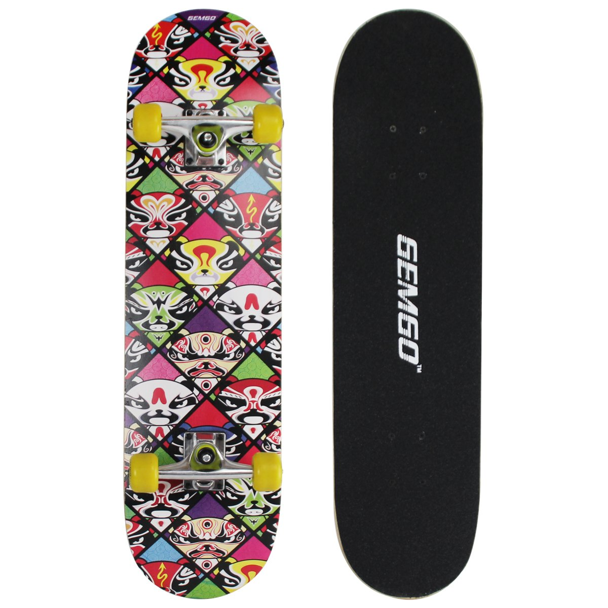 Gemgo Win.MAX Klassik Skateboard Skate Board Komplettboard Deck Funboard Holzboard ABEC-7