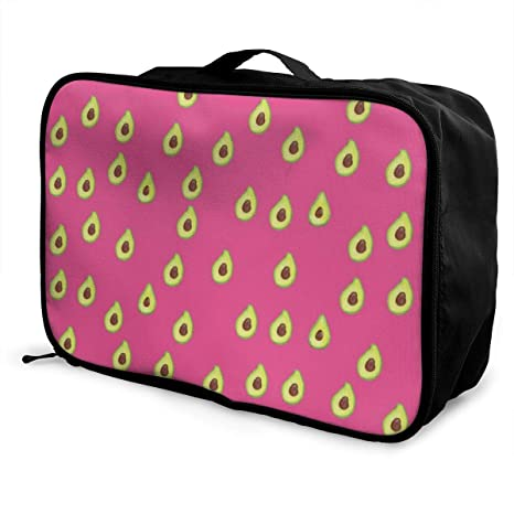 e30d6876ef5f Amazon.com | Women & Men Foldable Travel Duffel Bag Pink Avocado ...