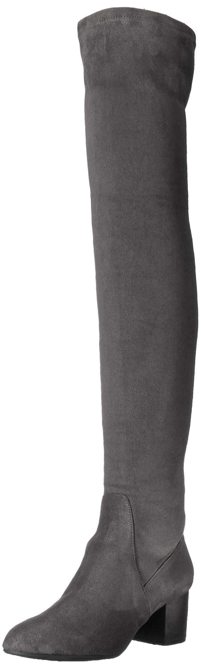 Steve Madden Women's Isaac Harness Boot, Grey, 8.5 M US
