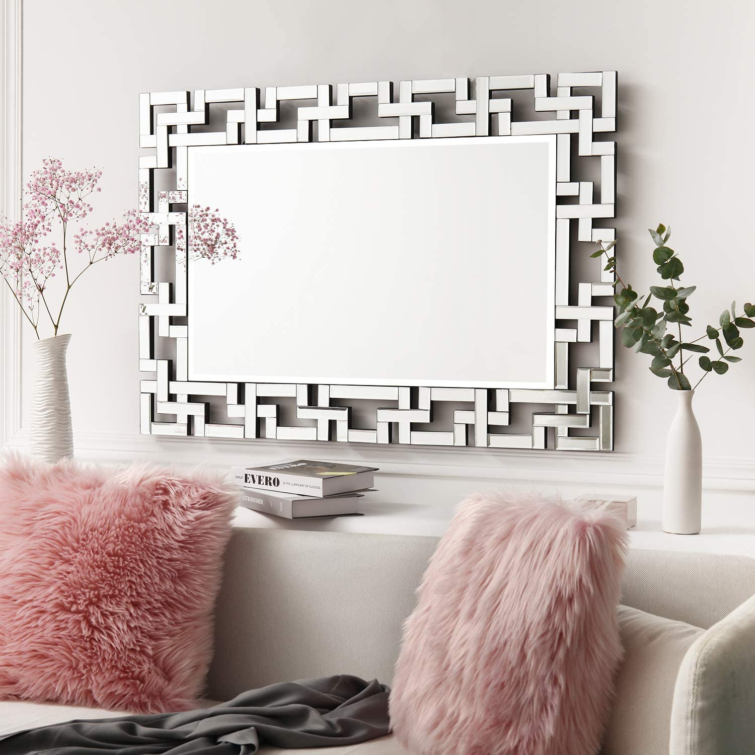 Art Decorative Wall Mirrors Large Grecian Venetian Mirror For Hotel Home Vanity Sliver Mirror 27 5 W X39 5 H Kitchen Dining