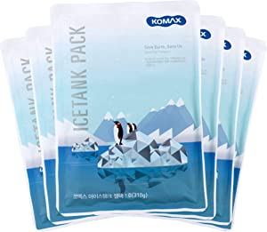 "Komax Lunch Box Ice Packs | Set of 6 Reusable Ice Packs for Lunch Box & Coolers | 5.5"" x 7.8"" Slim Freezer Packs 