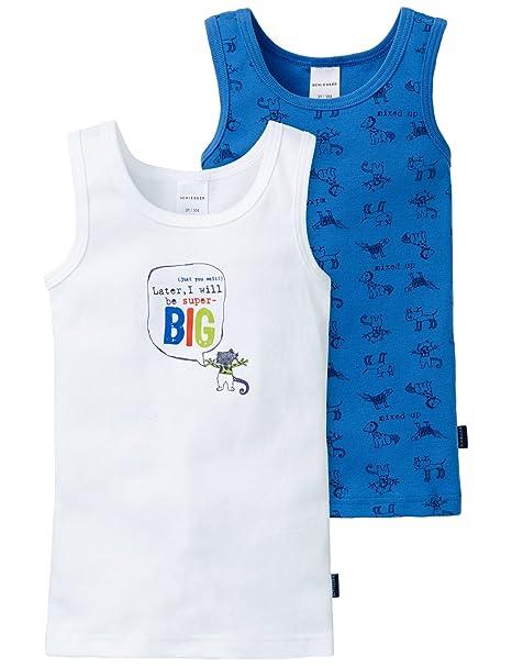 e9d93e10e Schiesser Camiseta Tirantes para Niños (Pack de 2)  Amazon.es  Ropa y  accesorios