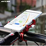 Gub MaxMiles Motorcycle and Bicycle Cell Phone Holder Aluminum Universal Adjustable Phone Mount Smartphone Holder Bike Handlebar Cell Phone Holder For iPhone X 5 6 7 8 Plus Samsung LG