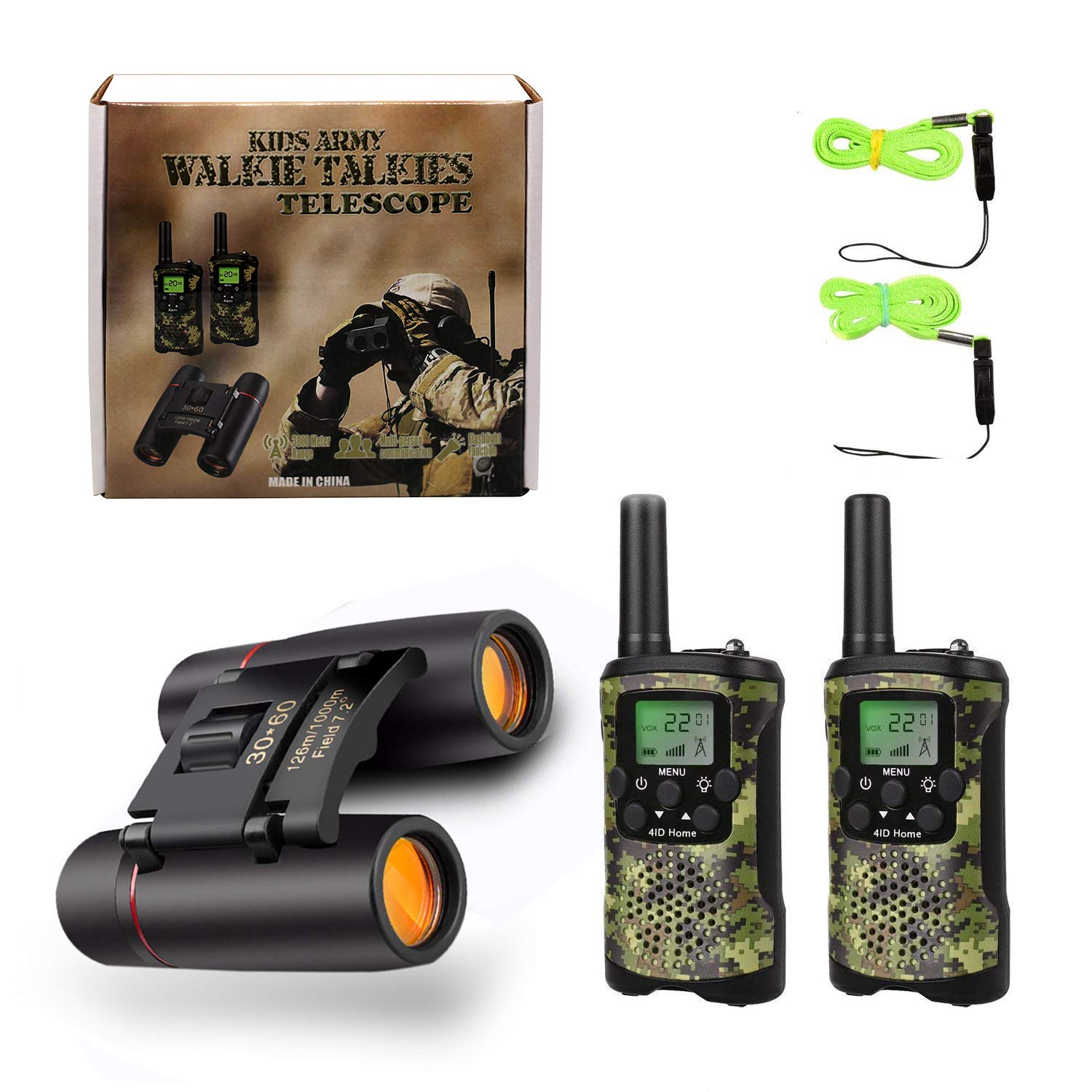 Ideahome Kids walkie talkies Binoculars Toys - Kids' Binocular 2 Way radios walkie Talkie 3 Miles Long Range walky Talky Children Outdoor Toys Best Gifts for Boys and Girls (camo) by Ideahome (Image #7)