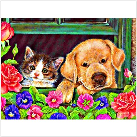 5D Diamond Painting Embroidery Cross Crafts Stitch Kit Home Decor DIY Gifts Dog