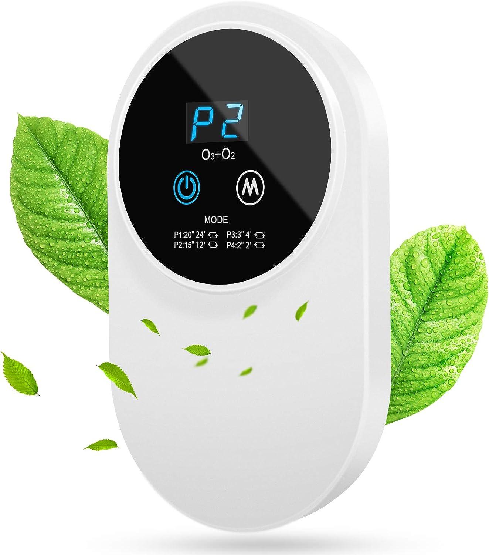 ACADGQ Purificador de Aire,Purificador Aire Hogar,Silencioso Generador de Ozono,ozonizador purificador de Aire,Ionizadores de Aire con LED Display,Antibacteriano 99% Desodorizando,para Oficina Auto