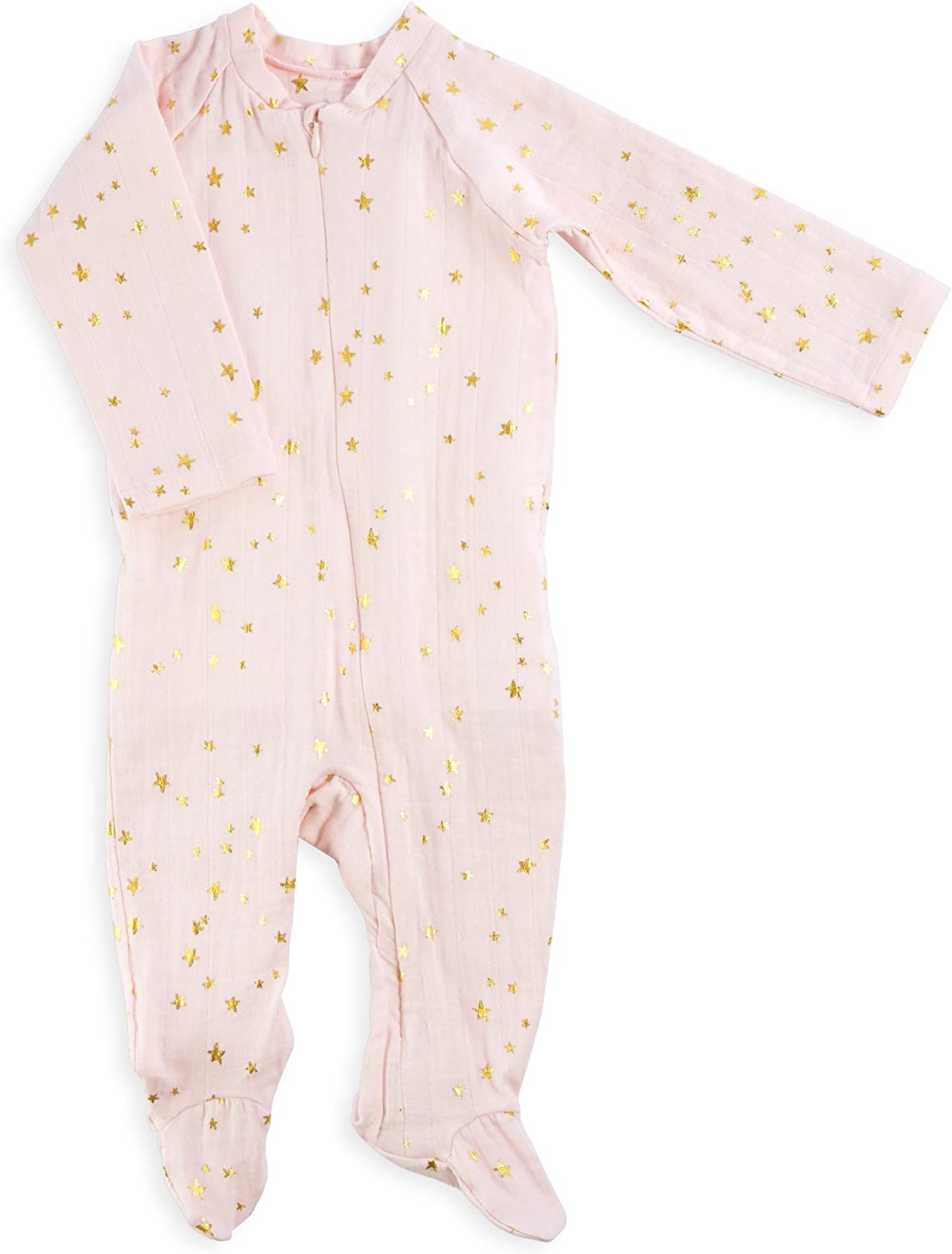 aden anais Baby Girls Long Sleeve Zipper One-Piece Primrose-0-3