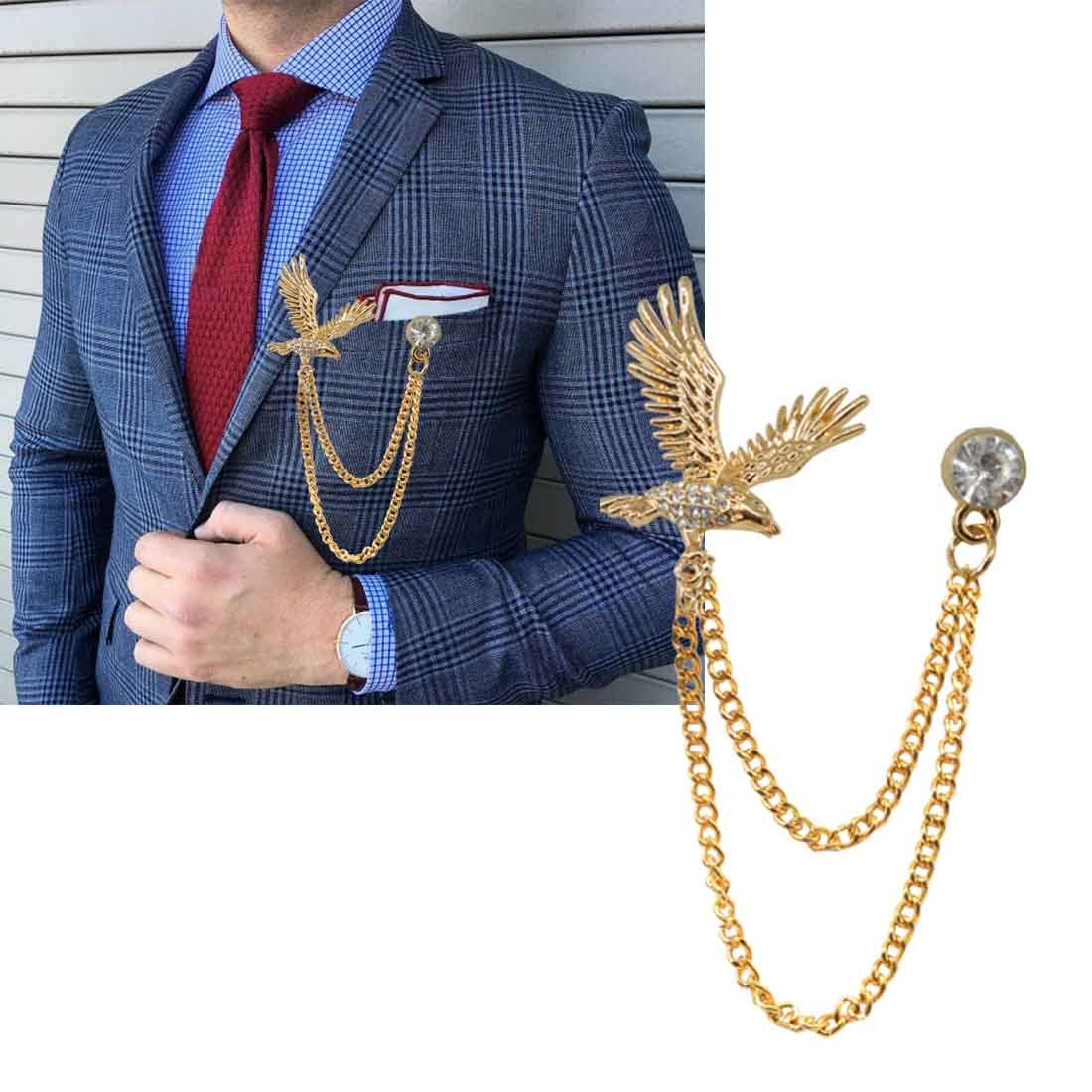 23f3756296c6 Buy Sullery Men's Flying Eagle Brooch Vintage Party Formal Suits Lapel Pins  Brooch for Men Women Online at Low Prices in India | Amazon Jewellery Store  ...