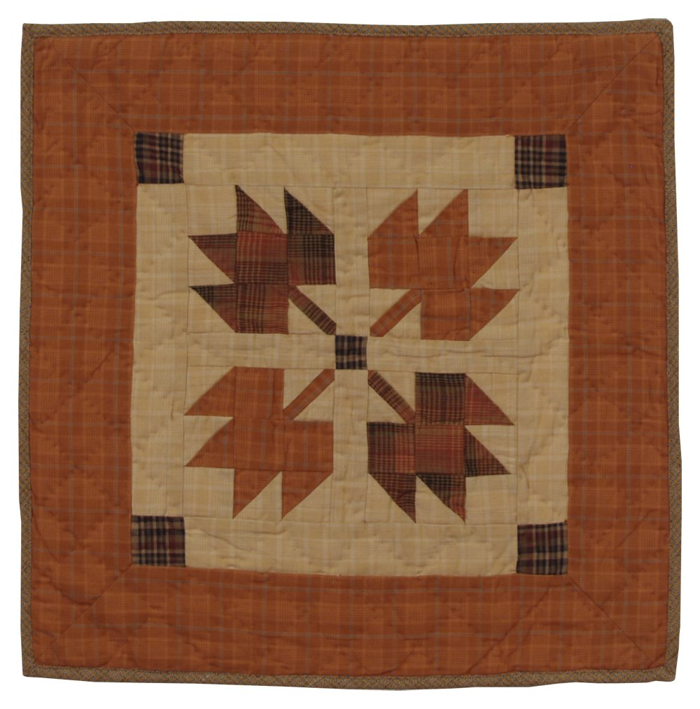 Autumn Leaves Wall Hanging Quilt 18 Inches by 18 Inches 100% Cotton Handmade Hand Quilted Heirloom Quality by Choices Quilts
