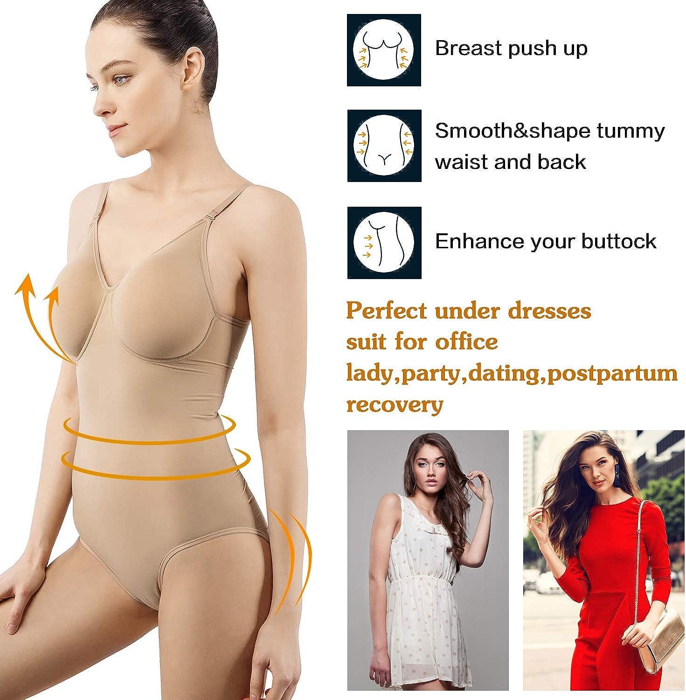 +MD Damen Body figurformend mit V-Ausschnitt Miederkleid Perfect Sensation Korsett Body Shaper